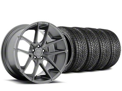 Staggered Niche Targa Matte Anthracite Wheel & BF Goodrich G-FORCE COMP 2 Tire Kit - 19x8/9.5 (05-14 All)