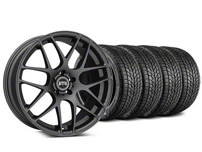 Staggered RTR Charcoal Wheel & BF Goodrich G-FORCE COMP 2 Tire Kit - 19x8.5/10 (05-14 All)