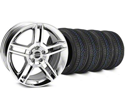 Staggered 2010 GT500 Style Chrome Wheel & Continental Extreme Contact DWS06 Tire Kit - 19x8.5/10 (05-14 All)