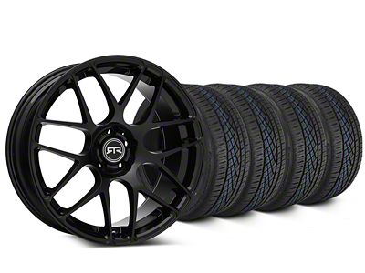 Staggered RTR Black Wheel & Continental Extreme Contact DWS06 Tire Kit - 19x8.5/10 (05-14 All)