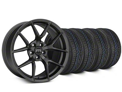 Staggered RTR Tech 5 Charcoal Wheel & Continental Extreme Contact DWS06 Tire Kit - 19x9.5/10.5 (05-14 All)