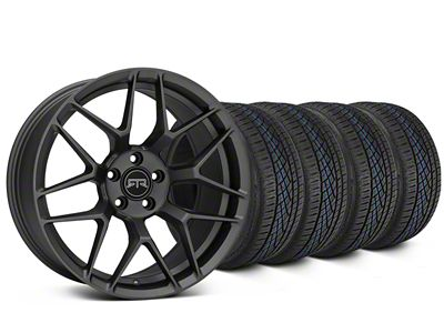 Staggered RTR Tech 7 Charcoal Wheel & Continental Extreme Contact DWS06 Tire Kit - 19x9.5/10.5 (05-14 All)