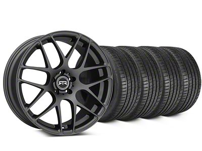 Staggered RTR Charcoal Wheel & Michelin Pilot Super Sport Tire Kit - 19 in. - 2 Rear Options (05-14 All)