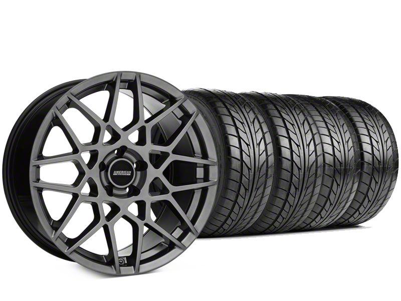 Staggered 2013 GT500 Style Hyper Dark Wheel & NITTO NT555 G2 Tire Kit - 19x8.5/10 (15-19 GT, EcoBoost, V6)