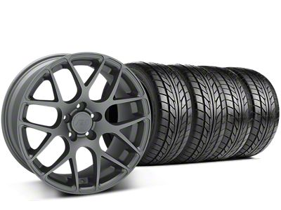 Staggered AMR Charcoal Wheel & NITTO NT555 G2 Tire Kit - 19x8.5/11 (15-19 GT, EcoBoost, V6)