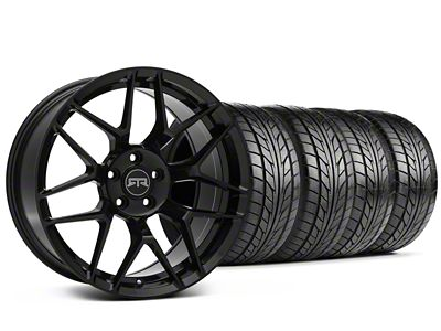 Staggered RTR Tech 7 Black Wheel & NITTO NT555 G2 Tire Kit - 19x9.5/10.5 (15-19 All)