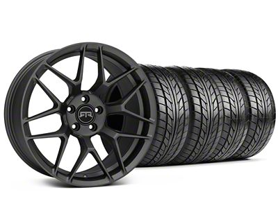 Staggered RTR Tech 7 Charcoal Wheel & NITTO NT555 G2 Tire Kit - 19x9.5/10.5 (15-19 All)