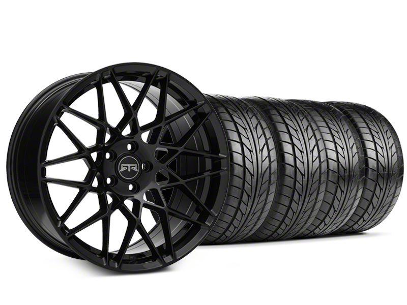 Staggered RTR Tech Mesh Black Wheel & NITTO NT555 G2 Tire Kit - 19x9.5/10.5 (15-19 All)