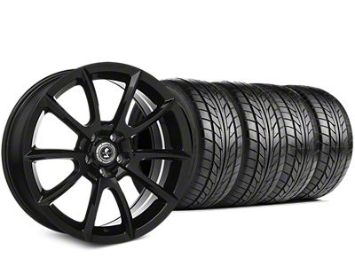 Staggered Shelby Super Snake Style Black Wheel & NITTO NT555 G2 Tire Kit - 19x8.5/10 (15-19 All)