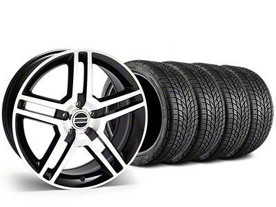 Staggered 2010 GT500 Style Black Machined Wheel & BF Goodrich G-FORCE COMP 2 Tire Kit - 19x8.5/10 (15-19 GT, EcoBoost, V6)