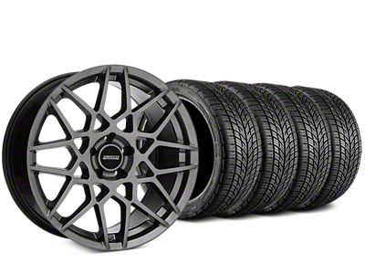 Staggered 2013 GT500 Style Hyper Dark Wheel & BF Goodrich G-FORCE COMP 2 Tire Kit - 19x8.5/10 (15-19 GT, EcoBoost, V6)
