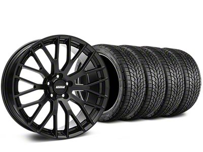 Staggered Performance Pack Style Black Wheel & BF Goodrich G-FORCE COMP 2 Tire Kit - 19x8.5/10 (15-19 GT, EcoBoost, V6)
