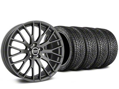 Staggered Performance Pack Style Charcoal Wheel & BF Goodrich G-FORCE COMP 2 Tire Kit - 19x8.5/10 (15-19 All)