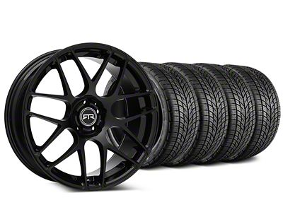 Staggered RTR Black Wheel & BF Goodrich G-FORCE COMP 2 Tire Kit - 19x8.5/10 (15-19 All)