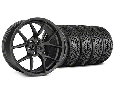 Staggered RTR Tech 5 Charcoal Wheel & BF Goodrich G-FORCE COMP 2 Tire Kit - 19x9.5/10.5 (15-19 All)
