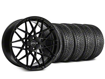 Staggered RTR Tech Mesh Black Wheel & BF Goodrich G-FORCE COMP 2 Tire Kit - 19x9.5/10.5 (15-19 All)