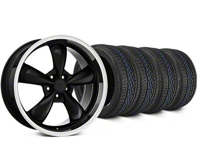 Staggered Bullitt Black Wheel & Continental Extreme Contact DWS06 Tire Kit - 19x8.5/10 (15-19 EcoBoost, V6)