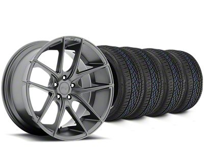 Staggered Niche Targa Matte Anthracite Wheel & Continental Extreme Contact DWS06 Tire Kit - 19x8/10 (15-19 All)