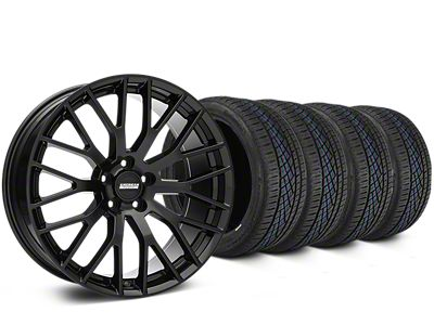 Staggered Performance Pack Style Black Wheel & Continental Extreme Contact DWS06 Tire Kit - 19x8.5/10 (15-19 All)