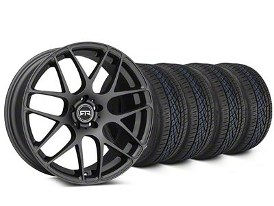 Staggered RTR Charcoal Wheel & Continental Extreme Contact DWS06 Tire Kit - 19x8.5/10 (15-19 All)