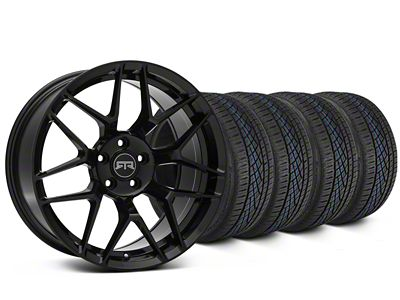 Staggered RTR Tech 7 Black Wheel & Continental Extreme Contact DWS06 Tire Kit - 19x9.5/10.5 (15-19 GT, EcoBoost, V6)