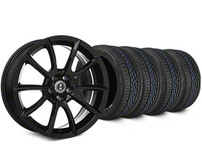Staggered Shelby Super Snake Style Black Wheel & Continental Extreme Contact DWS06 Tire Kit - 19x8.5/10 (15-19 All)