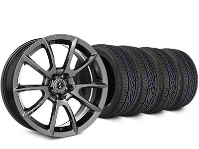 Staggered Shelby Super Snake Style Chrome Wheel & Continental Extreme Contact DWS06 Tire Kit - 19x8.5/10 (15-19 All)