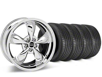 Staggered Bullitt Chrome Wheel & Michelin Pilot Super Sport Tire Kit - 19 in. - 2 Rear Options (15-19 EcoBoost, V6)