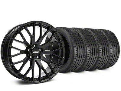 Staggered Performance Pack Style Black Wheel & Michelin Pilot Super Sport Tire Kit - 19 in. - 2 Rear Options (15-19 All)