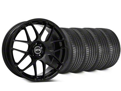 Staggered RTR Black Wheel & Michelin Pilot Super Sport Tire Kit - 19 in. - 2 Rear Options (15-19 All)