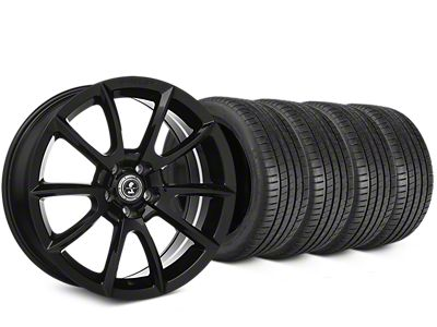 Staggered Shelby Super Snake Style Black Wheel & Michelin Pilot Super Sport Tire Kit - 19 in. - 2 Rear Options (15-19 All)