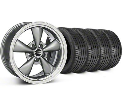 Staggered Bullitt Anthracite Wheel & Michelin Pilot Super Sport Tire Kit - 20 in. - 2 Rear Options (05-10 GT; 05-14 V6)