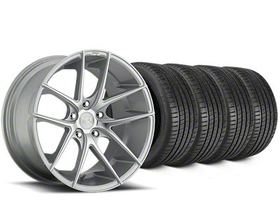 Staggered Niche Targa Matte Silver Wheel & Michelin Pilot Super Sport Tire Kit - 20 in. - 2 Rear Options (15-19 All)