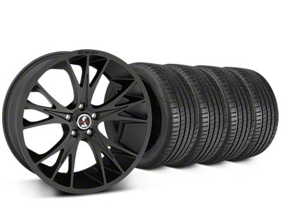 Staggered Shelby CS1 Matte Black Wheel & Michelin Pilot Super Sport Tire Kit - 20x9/11 (15-19 All)