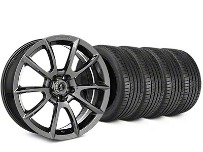 Staggered Shelby Super Snake Style Chrome Wheel & Michelin Pilot Super Sport Tire Kit - 20 in. - 2 Rear Options (15-19 All)