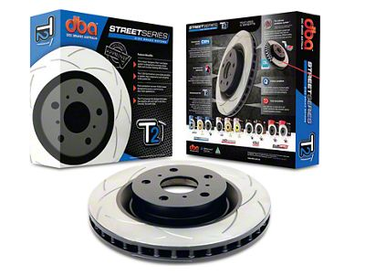 DBA T2 Street Series Slotted Rotor - Rear (15-19 GT, EcoBoost w/ Performance Pack)