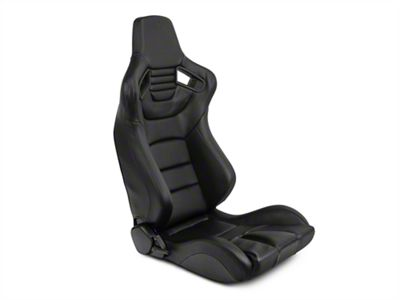 SpeedForm Black Racing Seat w/ Black Carbon Fiber Vinyl - Pair (79-19 All)