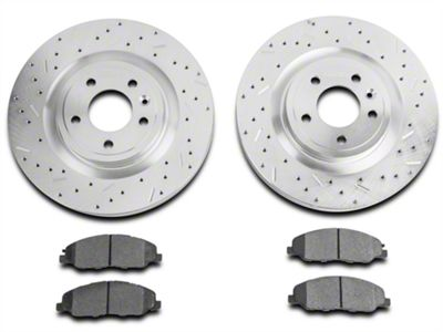 Xtreme Stop Precision Cross-Drilled & Slotted Rotor w/ Carbon Graphite Brake Pad Kit - Front (11-14 GT)