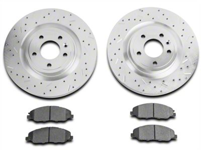 Xtreme Stop Precision Cross-Drilled & Slotted Rotor w/ Ceramic Brake Pad Kit - Front (11-14 GT)
