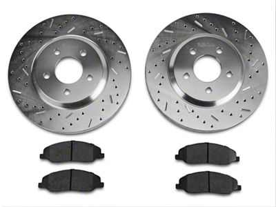 Xtreme Stop Precision Drilled & Slotted Rotor w/ Ceramic Brake Pad Kit - Front (05-10 GT)
