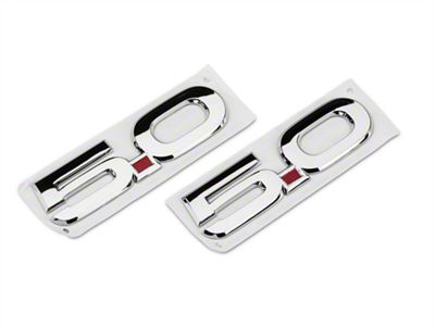 Ford Performance Coyote Style 5.0 Fender Emblems - Chrome (15-19 GT)