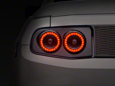 Raxiom Smoked Dual Halo LED Tail Lights (10-12 All)