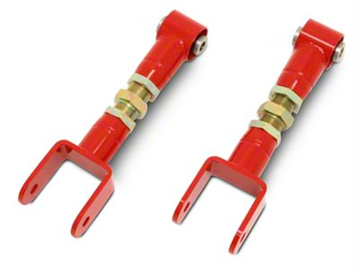 BMR On-Car Adjustable Rear Upper Control Arms - Spherical Bushings - Red (79-04 All, Excluding 99-04 Cobra)