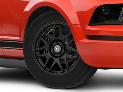 Forgestar F14 Drag Edition Matte Black Wheel - 17x7 - Front Only (05-09 All)