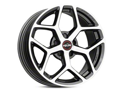 Race Star 95 Recluse Metallic Gray w/ Machined Face Wheel - 17x7 - Front Only (05-19 All)
