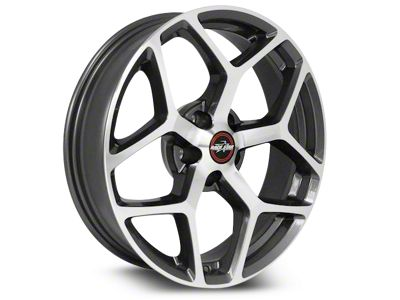 Race Star 95 Recluse Metalic Gray w/ Machined Face Wheel - 18x10.5 - Rear Only (15-19 GT, EcoBoost, V6)