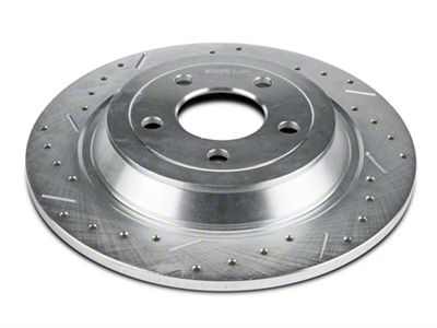 Xtreme Stop Precision Cross-Drilled & Slotted Rotors - Rear Pair (15-19 Standard GT, Standard EcoBoost, V6)