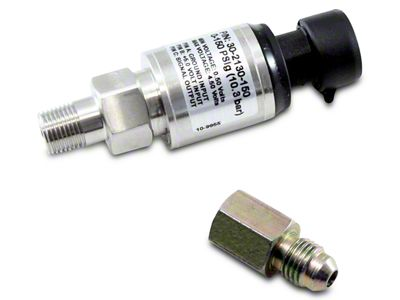 AEM Electronics 150 PSIg Stainless Sensor Kit: 150 PSIg Stainless Sensor, Connector, Pins & 1/8 in. NPT to -4 Adapter