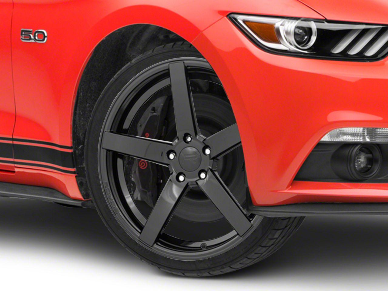 Rovos Durban Gloss Black Wheel - 20x8.5 (15-19 GT, EcoBoost, V6)