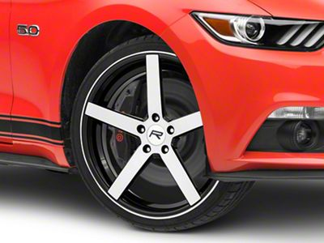 Rovos Durban Gloss Black Machined Wheel - 20x8.5 (15-19 GT, EcoBoost, V6)
